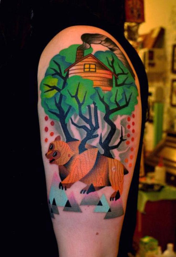Tatuaje spectaculoase, in stil contemporan - Poza 11
