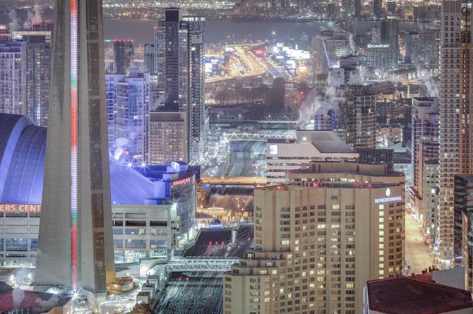 Toronto inghetat, vazut de pe zgarie-nori - Poza 2