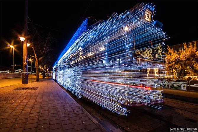 Superbele trenuri cu LED-uri de la Budapesta - Poza 2