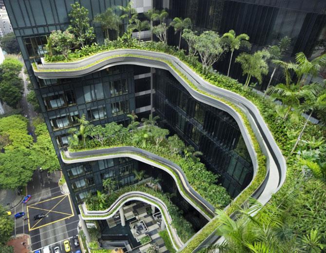 Park Royal Hotel, cel mai verde hotel, la Singapore - Poza 1