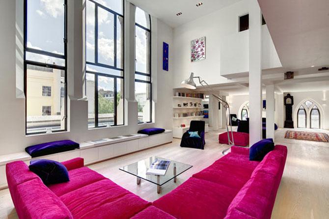 Duplexul din capela, in Notting Hill, Londra - Poza 2