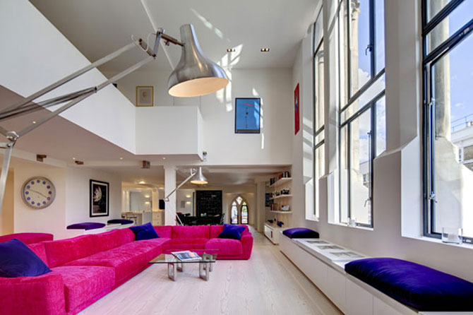Duplexul din capela, in Notting Hill, Londra - Poza 3
