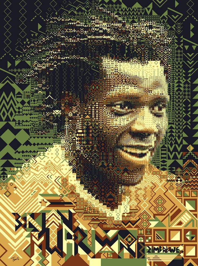 Portrete uimitoare in mozaic - Poza 28