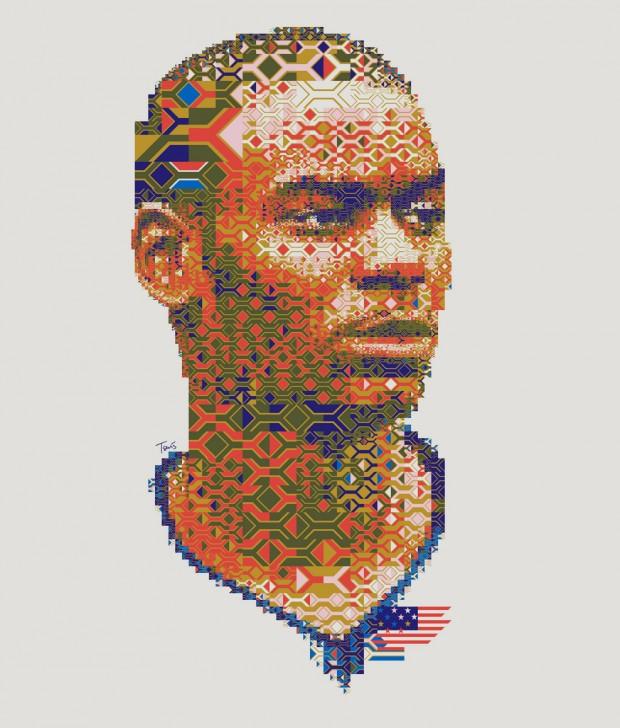 Portrete uimitoare in mozaic - Poza 23