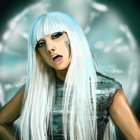 Poker Face is set in a common time time signature with a fast tempo of 120 beats per minute It is written in the key of G minor with Gagas vocal range spanning