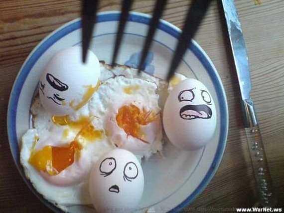 Funny: Arta din mancare!
