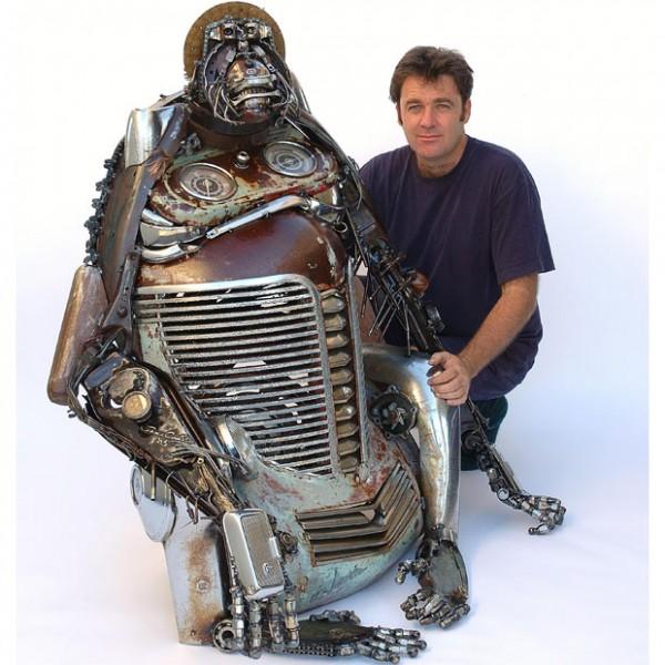 Sculpturi din piese de masini vechi - Poza 10