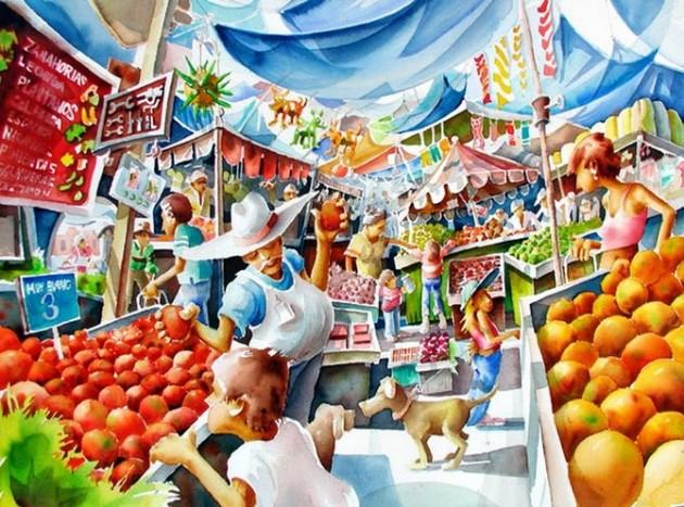Tablouri in culori vii semnate Mike Kleimo - Poza 15