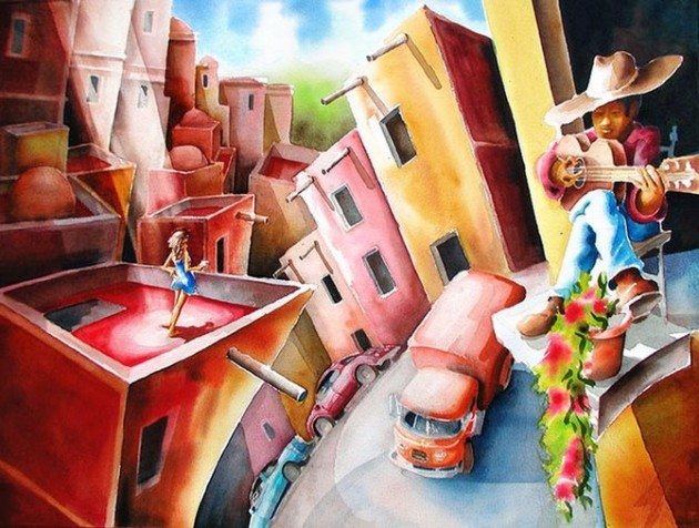 Tablouri in culori vii semnate Mike Kleimo - Poza 16