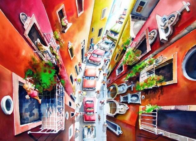 Tablouri in culori vii semnate Mike Kleimo - Poza 4