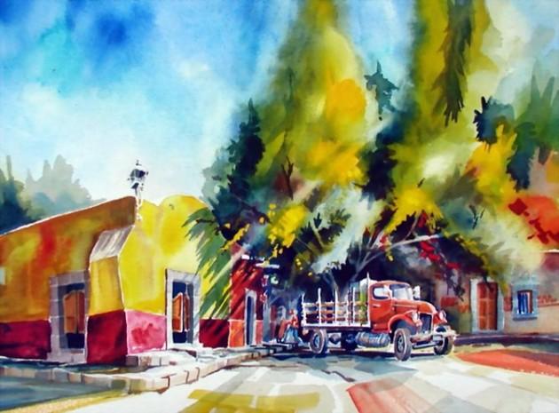 Tablouri in culori vii semnate Mike Kleimo