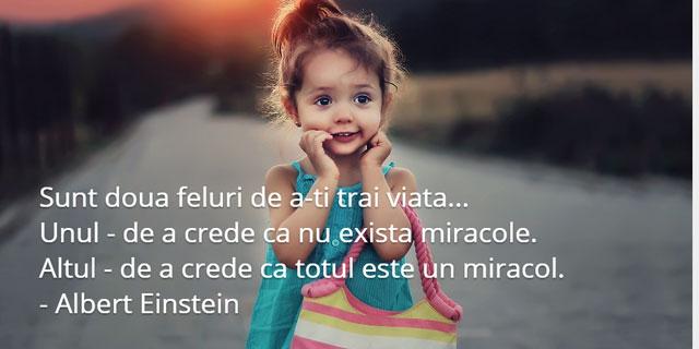 citate despre viata - miracol