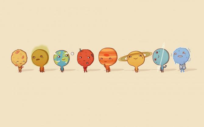 Wallpaper: Sistemul solar