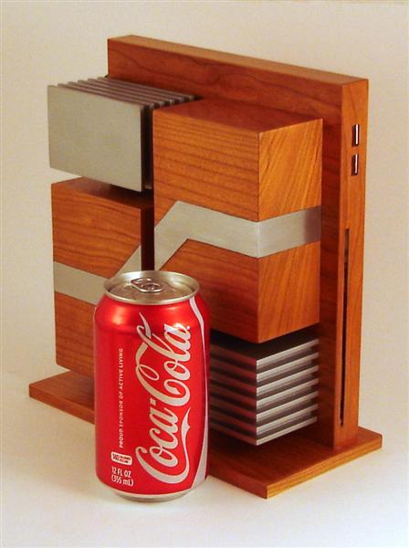 Carcasa PC din lemn si aluminiu - Poza 2