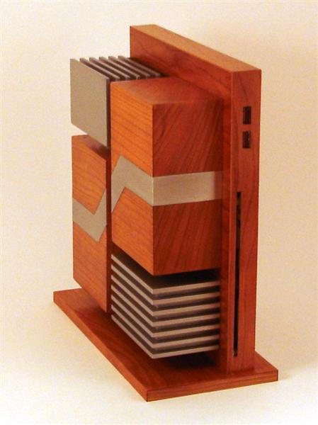 Carcasa PC din lemn si aluminiu - Poza 3