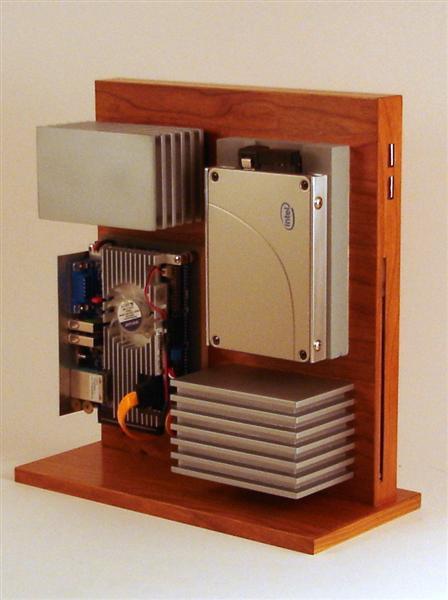 Carcasa PC din lemn si aluminiu - Poza 4