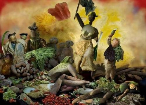 Opere de arta din legume - Poza 17