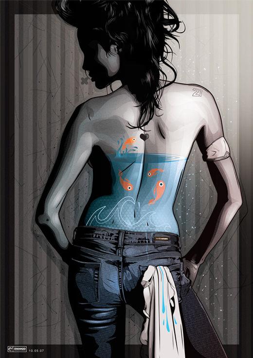 45 de exemple inspirationale de arta vectoriala - Poza 31