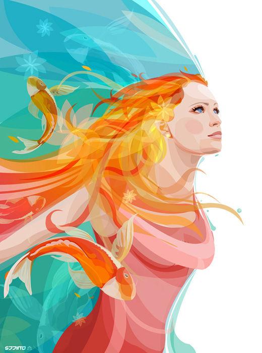 45 de exemple inspirationale de arta vectoriala - Poza 40