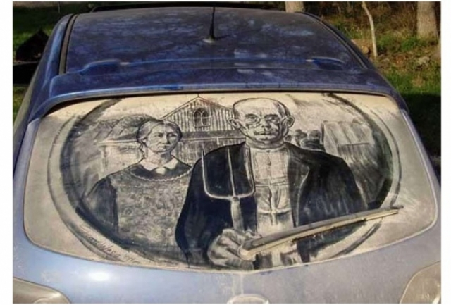 Foto 5: 20 de desene superbe pe masini murdare