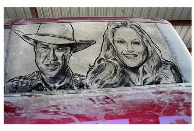 Foto 6: 20 de desene superbe pe masini murdare