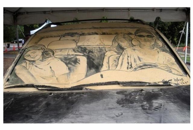 Foto 7: 20 de desene superbe pe masini murdare