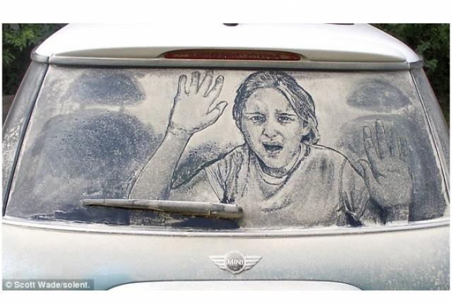 Foto 9: 20 de desene superbe pe masini murdare