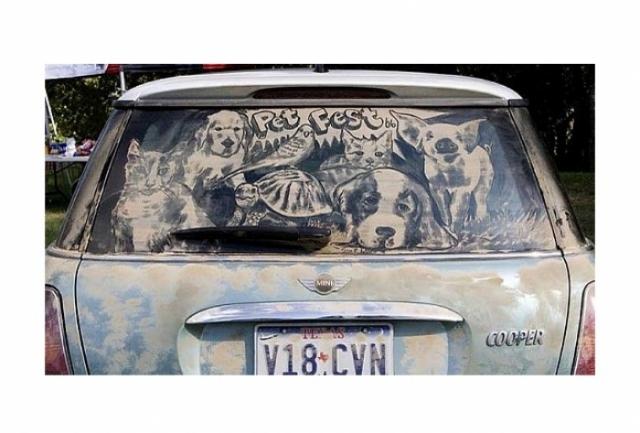 Foto 11: 20 de desene superbe pe masini murdare