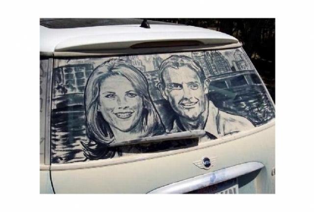 Foto 14: 20 de desene superbe pe masini murdare