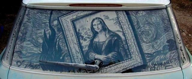 Foto 15: 20 de desene superbe pe masini murdare