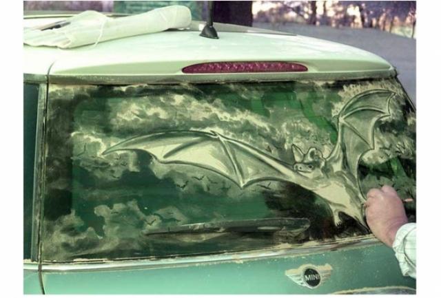 Foto 17: 20 de desene superbe pe masini murdare