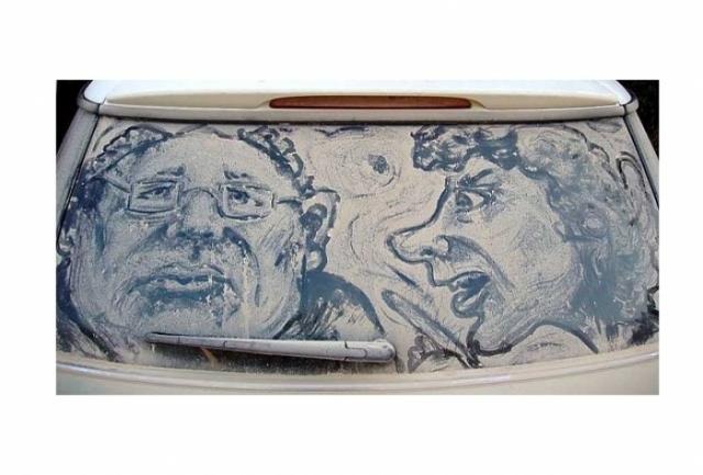 Foto 18: 20 de desene superbe pe masini murdare