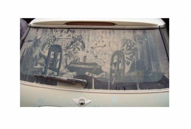 Foto 19: 20 de desene superbe pe masini murdare