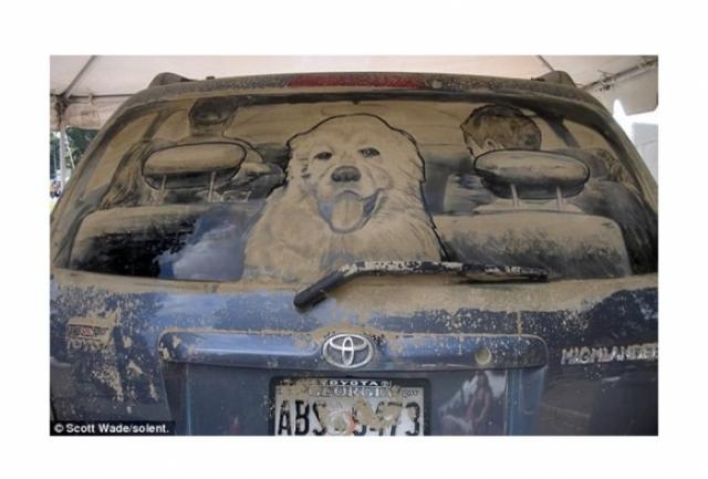 Foto 20: 20 de desene superbe pe masini murdare