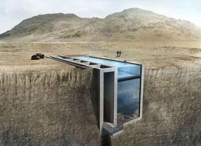 O casa poetica in purul stil brutalist