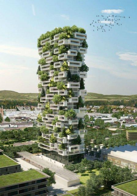 Turnul cedrilor: O padure verticala locuibila, in mijlocul orasului - Poza 1
