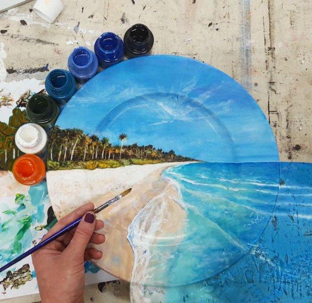 Pictura pe farfurii, cu Jacqueline Poirier - Poza 10
