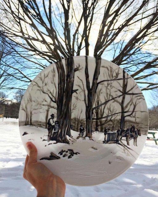 Pictura pe farfurii, cu Jacqueline Poirier - Poza 2