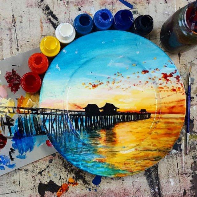 Pictura pe farfurii, cu Jacqueline Poirier - Poza 5