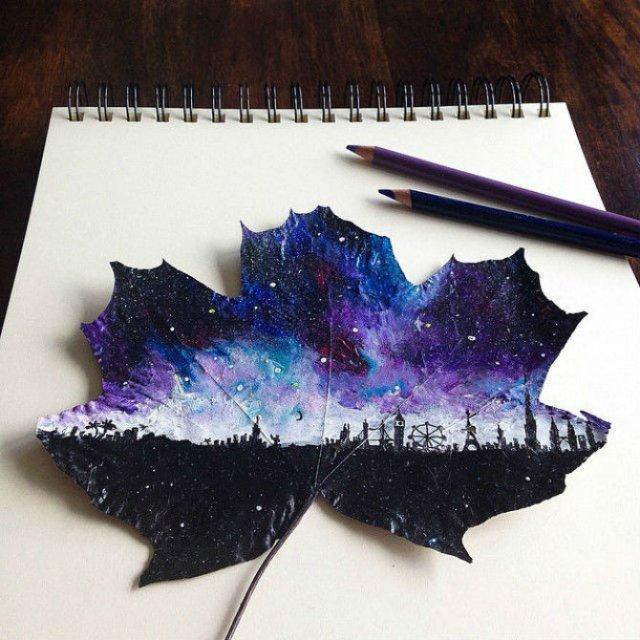 Franturi de lume asezate pe frunze - Poza 1
