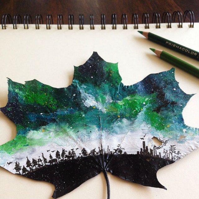 Franturi de lume asezate pe frunze - Poza 2