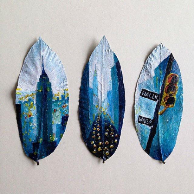 Franturi de lume asezate pe frunze - Poza 5