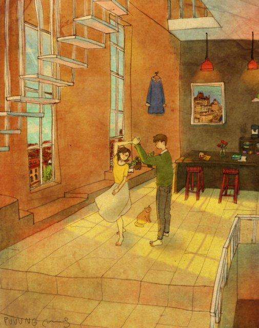 Marea dragoste, in gesturi marunte: 13 Ilustratii duioase - Poza 10