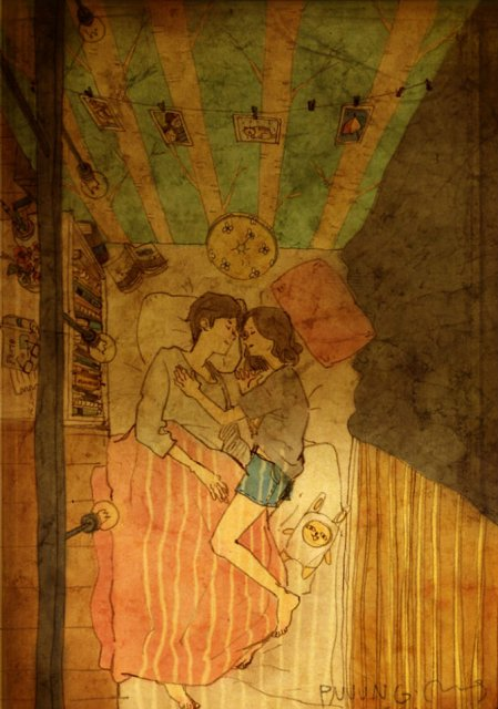 Marea dragoste, in gesturi marunte: 13 Ilustratii duioase - Poza 11