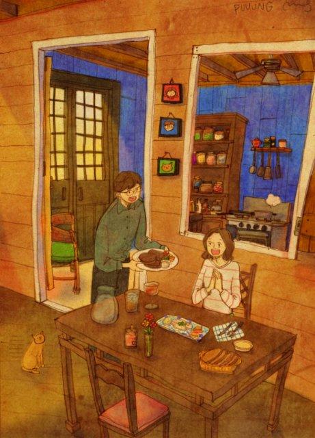Marea dragoste, in gesturi marunte: 13 Ilustratii duioase - Poza 12