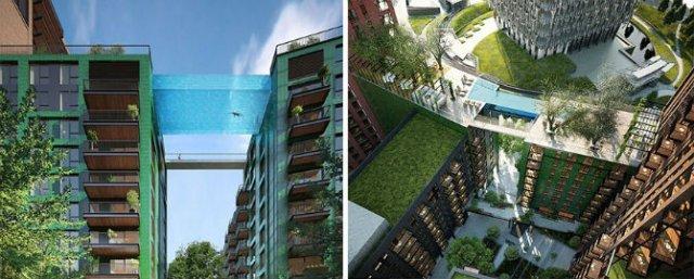 Plutind deasupra Londrei, in prima piscina suspendata, din sticla, din - Poza 2