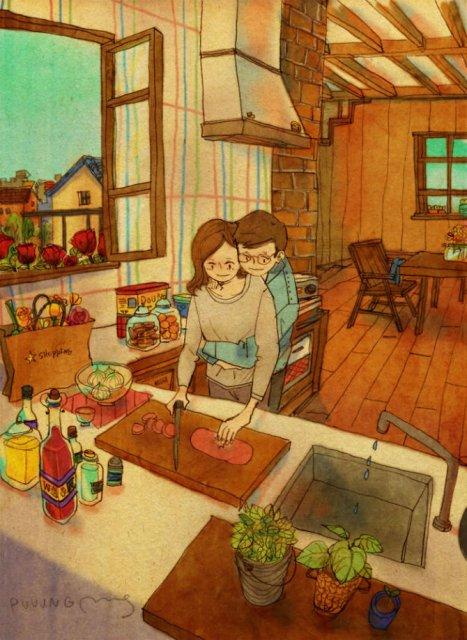 Marea dragoste, in gesturi marunte: 13 Ilustratii duioase - Poza 5