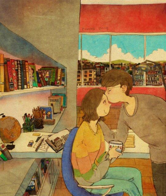 Marea dragoste, in gesturi marunte: 13 Ilustratii duioase - Poza 6