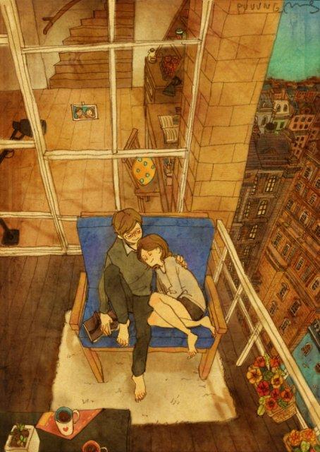 Marea dragoste, in gesturi marunte: 13 Ilustratii duioase - Poza 7