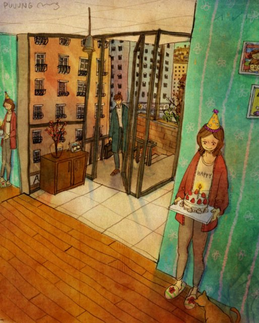 Marea dragoste, in gesturi marunte: 13 Ilustratii duioase - Poza 9